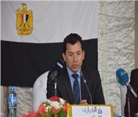وزير الرياضة يضع حجر أساس المشروع التنموي لتطوير مركز شباب سراي القبة