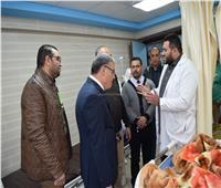محافظ المنيا يتفقد أعمال تطوير مستشفى التأمين الصحي