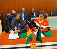 رئيس مفوضية الإتحاد الأفريقي يوقع إتفاق المقر لمنطقةً التجارة الأفريقيةً الحرة