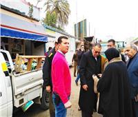 محافظ الشرقية يقود حملة لإزالة الإشغالات بمدينة الزقازيق