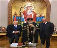 البابا تواضروس يلتقي الدكتور أحمد عكاشة