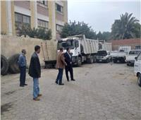 نائب محافظ القاهرة يتفقد مخزن السيارات التابع لحي الأميرية