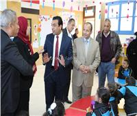 نائب محافظ قنا يتفقد المدرسة المصرية اليابانية
