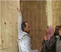 شباب الجامعات يزورون معبد ابيدوس بسوهاج