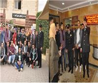 صور| وحدة تراخيص مرور النزهة تستقبل عددا من طلاب جامعة المنصورة