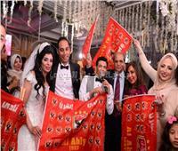 صور| سعد الصغير وياسر عدوية يحتفلان بزفاف «عمرو ودينا»