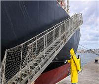 إجراءات وقائية واحترازية مشددة بميناء دمياط