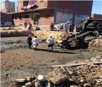إيقاف 4 حالات بناء مخالف بمركز ابوقرقاص بالمنيا