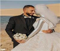 «عنده جفاف عاطفي».. «سنجل» في جلسة تصوير زفاف بصحبة «مانيكان»