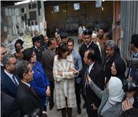 وزيرة الهجرة ومحافظ الغربية في زيارة القرى المنتجة بمركز بسيون