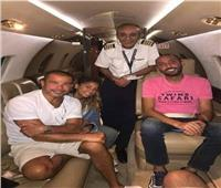 تداول صورة للطيار أشرف أبو اليسر بصحبة الهضبة ودينا الشربيني