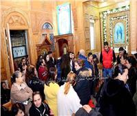 مطران بورسعيد يزور كنيسة الأنبا بيشوى