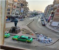 صور| القمامة تحاصر ميدان الزعيم أنور السادات بشبين الكوم