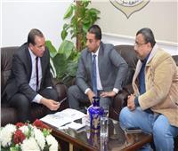 جامعة سوهاج تبحث سبل التعاون مع الشركة المصرية للاتصالات