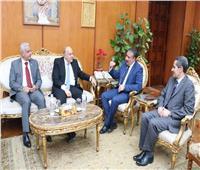عادل مباركيستقبل محافظا الغربية والمنوفية ورئيس جامعة طنطا