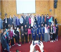 جامعة سوهاج تنظم جلسة حوارية مع وفد صالون مصر بيت العرب الثقافي