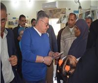محافظ البحر الأحمر يتفقد مكتبة «مصر العامة» بمرسى علم