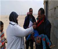 تحقيق 85.45% من المستهدف بالحملة القومية ضد مرض شلل الأطفال بسيناء