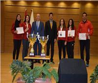 وزير الرياضة يُكرم بعثة المنتخب المصري للكاراتيه