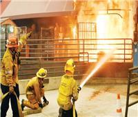 وفاة رجل إطفاء في حريق بمكتبة في كاليفورنيا