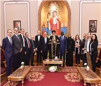 البابا تواضروسيستقبل السفير الإيطالي في مصر