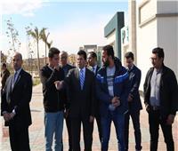وزير الرياضة يتفقد المنشآت الرياضية بمدينة ٦ أكتوبر