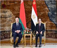 بالصور| الرئيس السيسي يستقبل رئيس بيلاروسيا