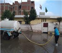 «مياه المنوفية»ترفع حالة الطوارئ لإزالة آثار الأمطار