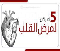 إنفوجراف | 5 أعراض لمرض القلب