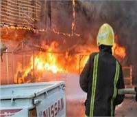 السيطرة على حريق شب في أكشاك بالقناطر الخيرية بالقليوبية