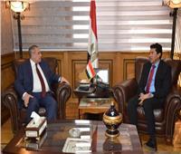 وزير الرياضة يستقبل سفير مصر بروسيا