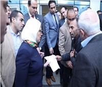 وزيرة الصحة تتفقد أعمال تطوير المبنى البحري بمستشفى بورسعيد العام
