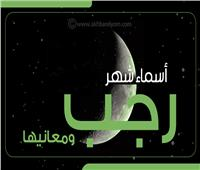 انفوجراف| تعرف على أسماء شهر «رجب» ومعانيها