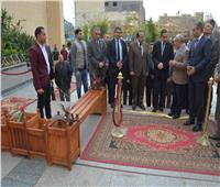 محافظ الغربية ونائبه يفتتحان المعرض السنوي للمنتجات الخشبية بكلية الهندسة