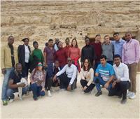 وفد سياحي أفريقي يزور منطقة بني حسن الأثرية بالمنيا