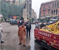 نائب محافظ القاهرة يتابع سحب مياه الأمطار بالمنطقة الغربية