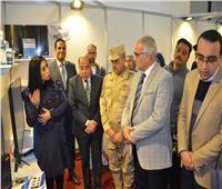 افتتاح معرض منتجات الوزارات والمؤسسات بجامعة قناة السويس