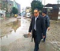 محافظ الشرقية يتابع أعمال سحب تجمعات الأمطار