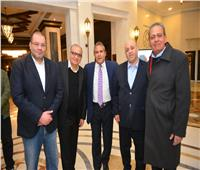 صور| طاهر أبو زيد يحضر عقد قران نور شريف السبكي