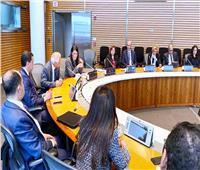 رانيا المشاط تلتقي المصريين العاملين بالبنك الدولي وصندوق النقد