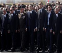 جنازة مبارك| الرئيس السيسي يصل مسجد المشير