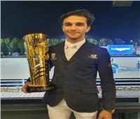 وزير الرياضة يهنئ محمد طاهر زيادة بذهبية الجائزة الكبرى للفروسية بالإمارات