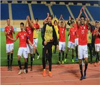 صور| منتخب الشباب يحتفل مع الجماهير بالصعود لنصف نهائي كأس العرب