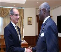 «طلعت» يبحث مع سفير كوت ديفوار التعاون بمجالات التحول الرقمي