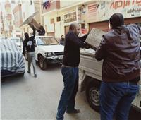 حملة مكبرة لرفع كافة الإشغالات ومخالفات المحال التجارية بحي غرب أسيوط