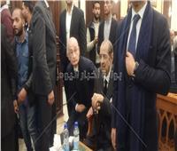 فريد الديب يصل عزاء الرئيس الراحل مبارك