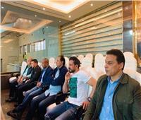 جهاز المنتخب الوطني يتابع مباراة الزمالك والترجي من مقصورة الاستاد