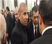 زيدان يصل عزاء الرئيس الراحل مبارك