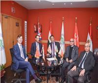 صور| جامعة مصر تستقبل رئيس جامعة ريكسهام لتفعيل فرع «لندن سكول للتجارة»