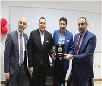 بالصور..الأكاديمية العربية للعلوم والتكنولوجيا تكرم هانى رمزي